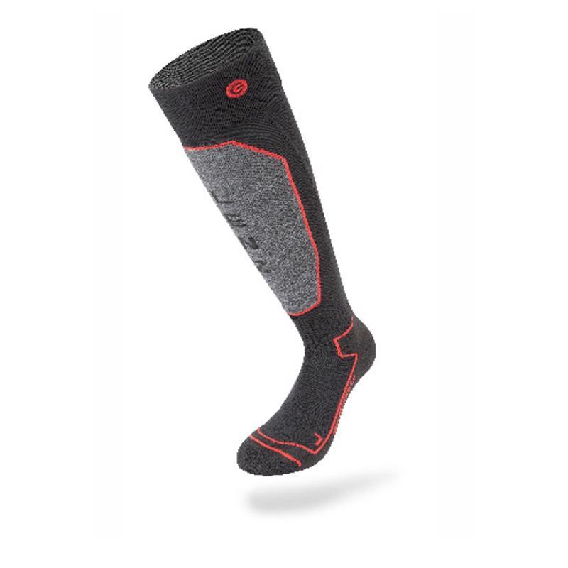 Lenz Unisex Beheizbare Socken & Akkus Heat 1.0 mit Lithium Pack rcB1200, Schwarz Grau Rot