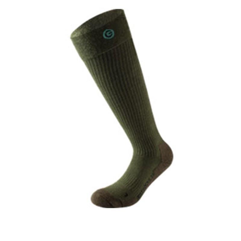 Lenz Unisex Beheizbare Socken & Akkus Heat 3.0 mit Lithium Pack rcB1200, Schwarz Grün