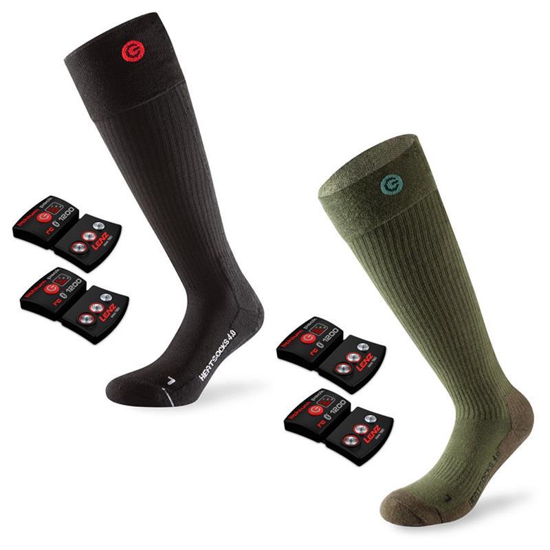 Lenz Unisex Beheizbare Socken & Akkus Heat 4.0 mit Lithium Pack rcB1200