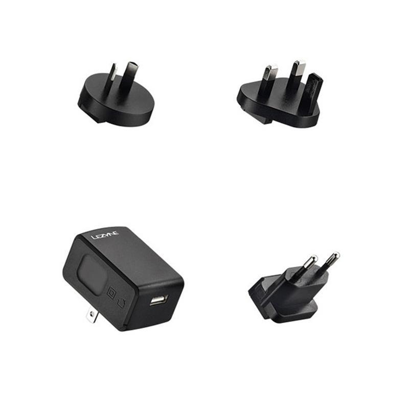 Lezyne Ladegerät Adaper International USB, Schwarz