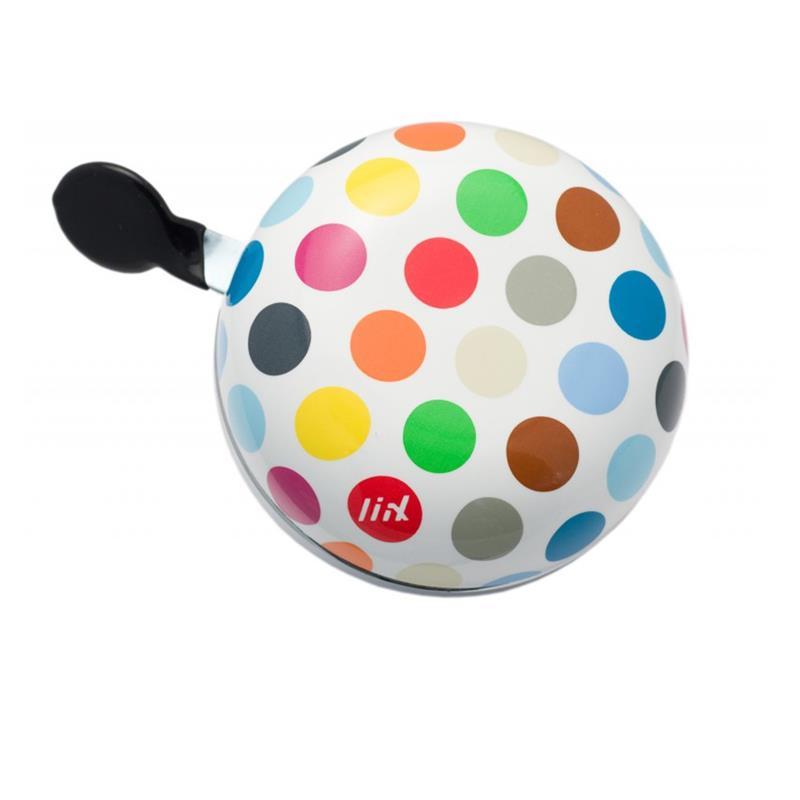 Liix Fahrradklingel Ding Dong Polka Big Dots Mix, Mehrfarbig