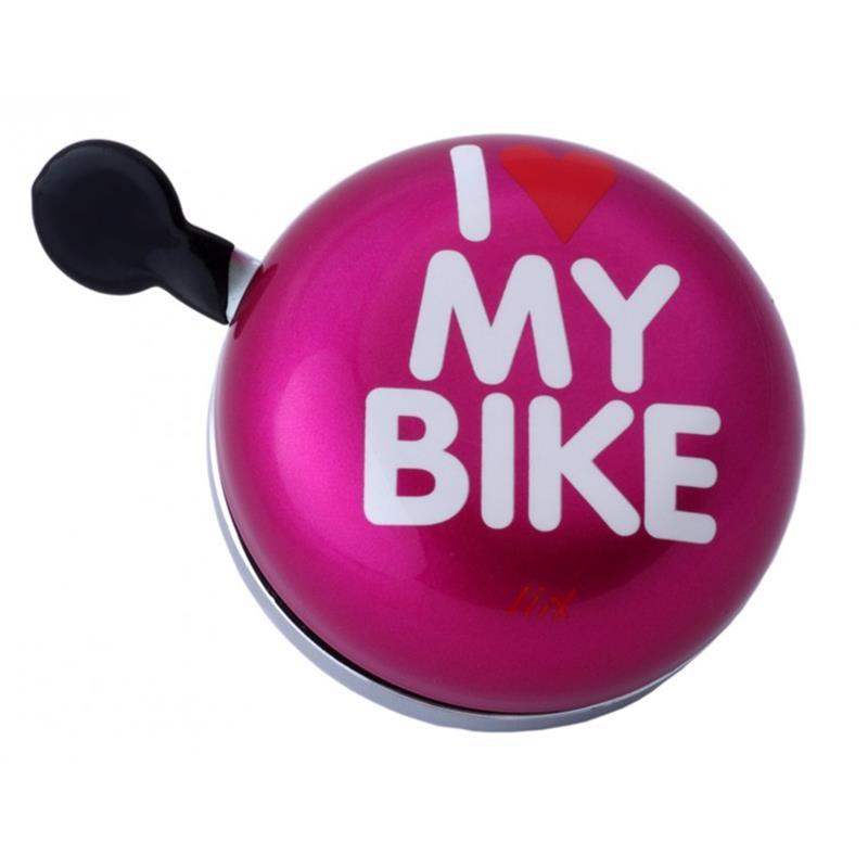 Liix Fahrradklingel Ding Dong I love my Bike
