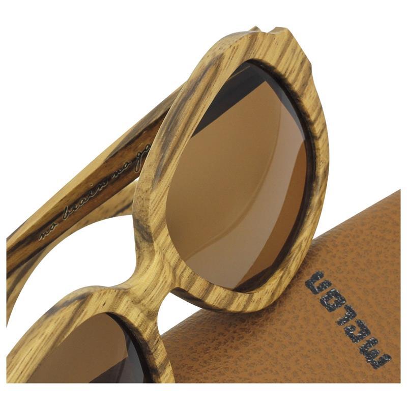Melon Unisex Sonnenbrille Zebrano Zebra Holz
