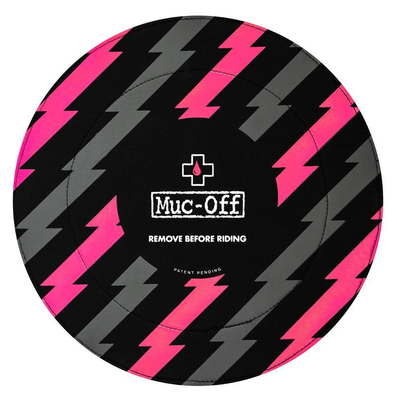 Muc Off Scheibenbremsencover Disc Brake Cover, Schwarz Pink, 2 Stück