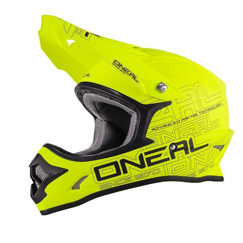 O'Neal Crosshelm 3Series MX Flat, Neon Gelb
