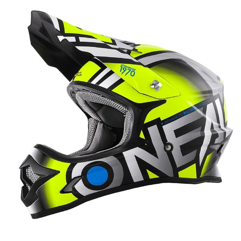 O'NEAL Crosshelm 3SRS MX Radium, Neon Gelb