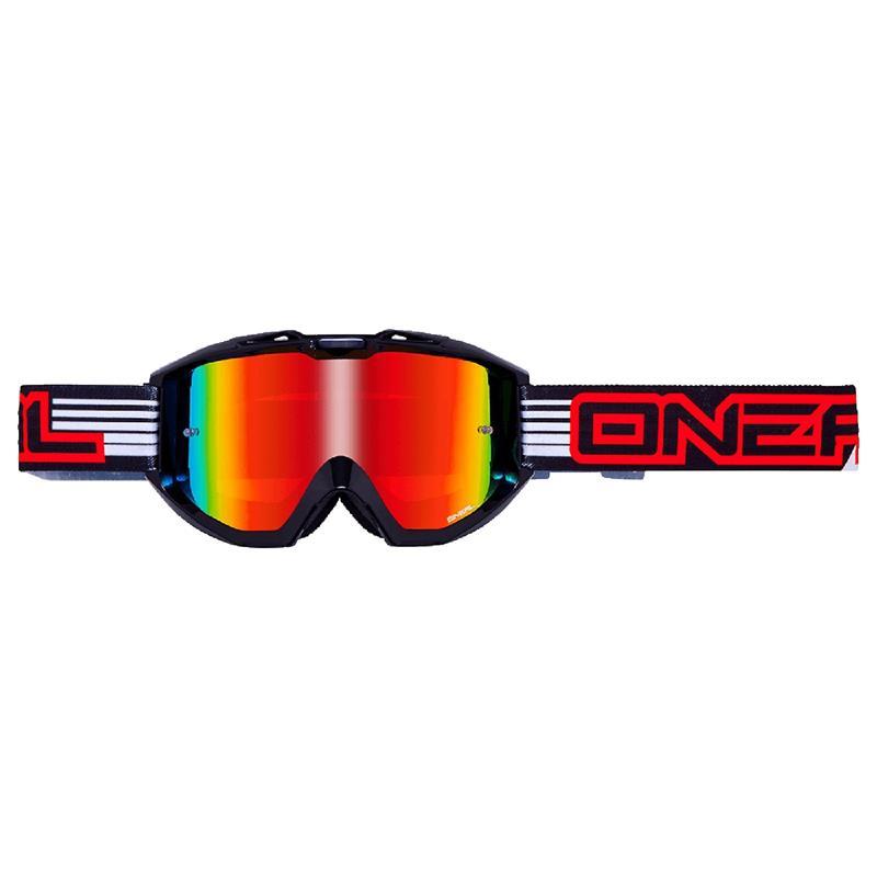 O'NEAL Crossbrille B1 RL Goggle Flat Radium, Schwarz