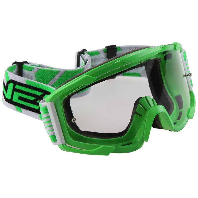 O'NEAL Crossbrille B2 RL Goggle Threesixzero Clear, Grün