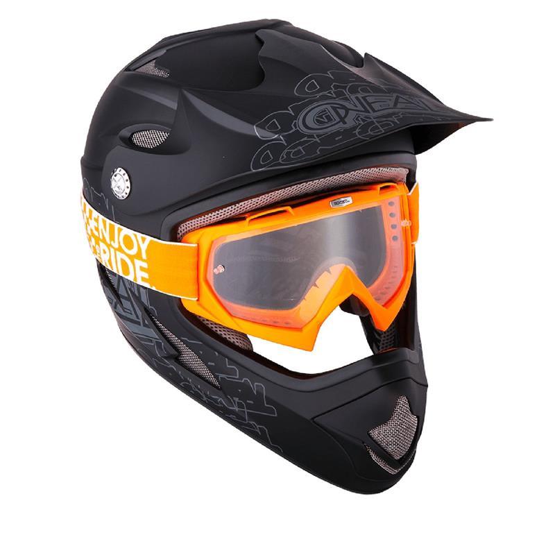 O'Neal Crossbrille B-Flex Goggle Launch Clear, Orange
