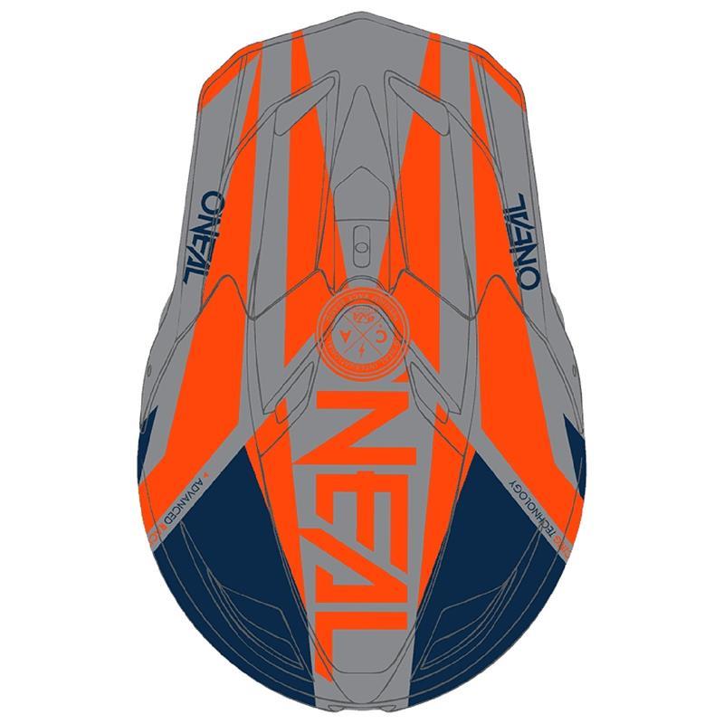 O'NEAL Fullfacehelm Fury Hybrid, blau orange