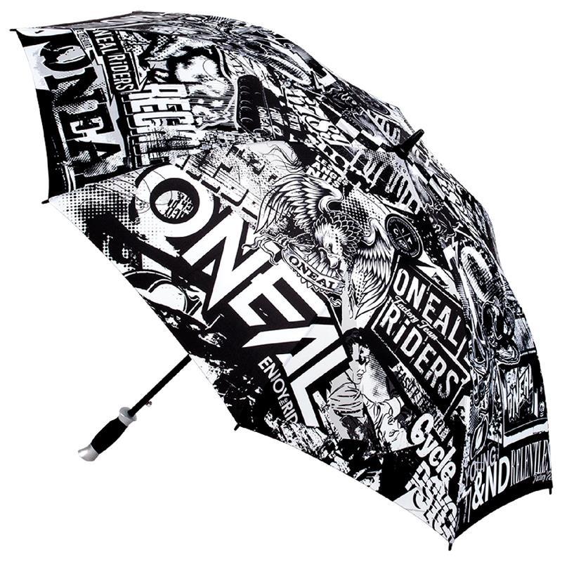 O'NEAL Regenschirm Moto Attack Umbrella, Schwarz Sonnenschirm