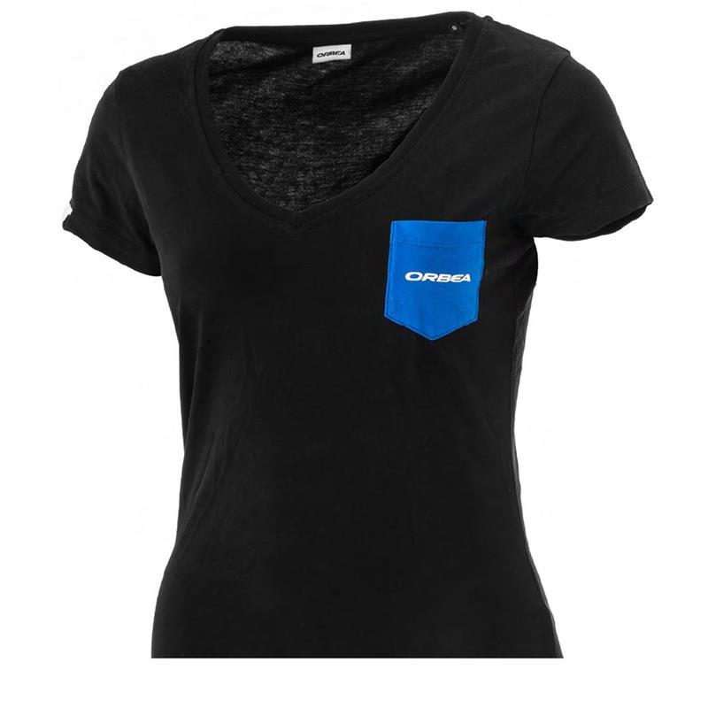 Orbea Damen T-Shirt Pocket, Schwarz Blau