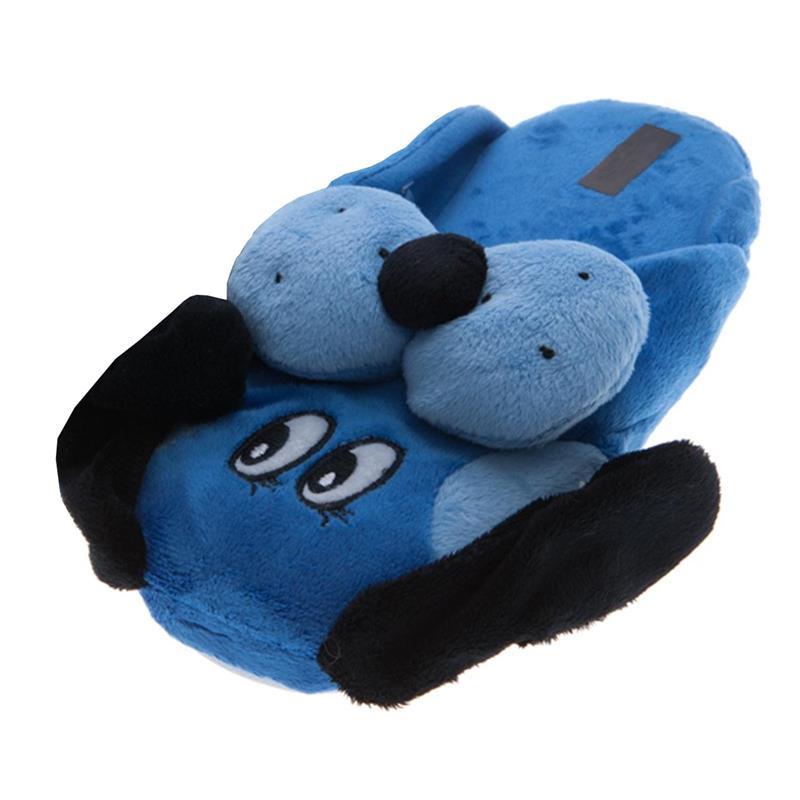 SAMs Kinder Tierhausschuhe Hund, Blau