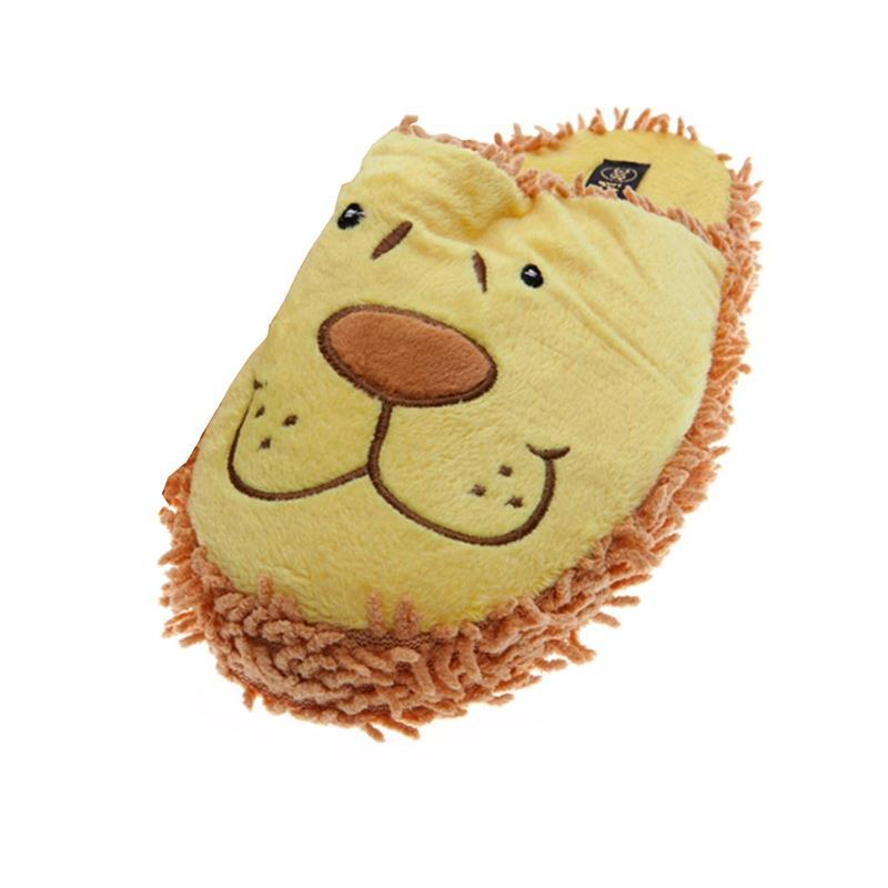 SAMs Kinder Tierhausschuhe Löwe, Gelb