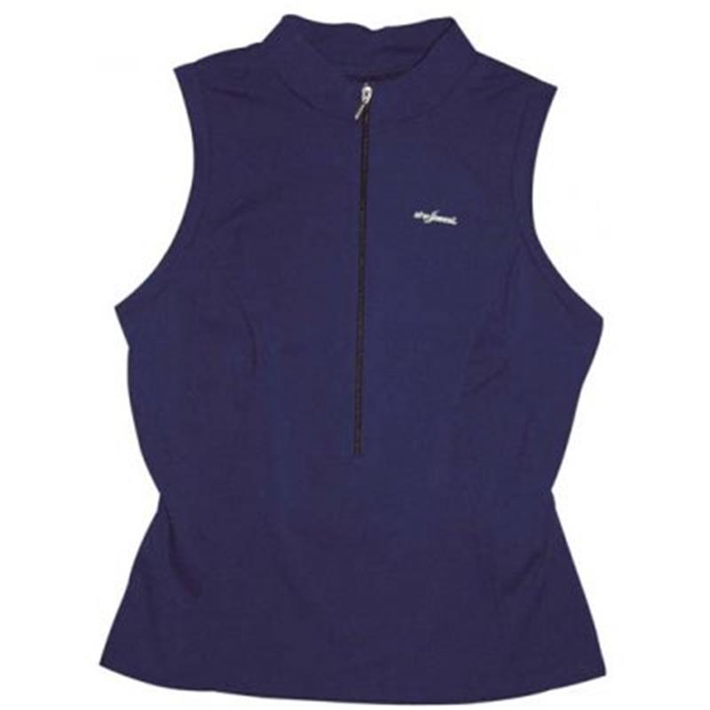 Shebeest Damen Fitnesstrikot Kurzarm S-Cut Sleeveless, Blau