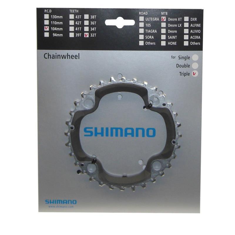 Shimano Kettenblatt 32 Z LK 4 x 104 mm FC-M 770-10, Silber