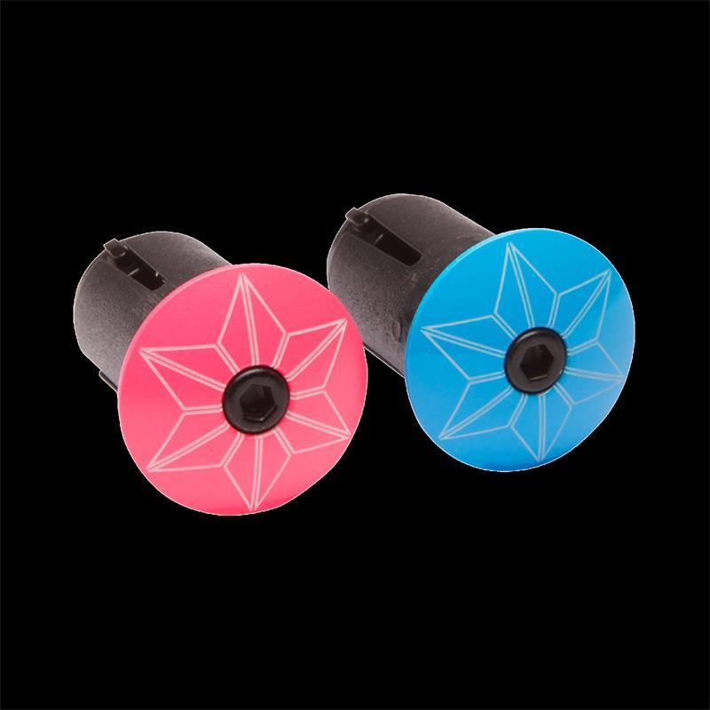 Supacaz Lenkerendkappen Star Plugz, Pink Blau