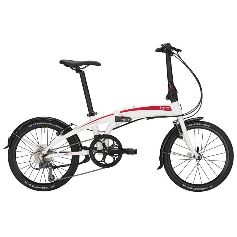 """Tern Unisex Fahrrad Verge N8 Faltrad, Weiß Rot, 8 Gang, 20"""""""