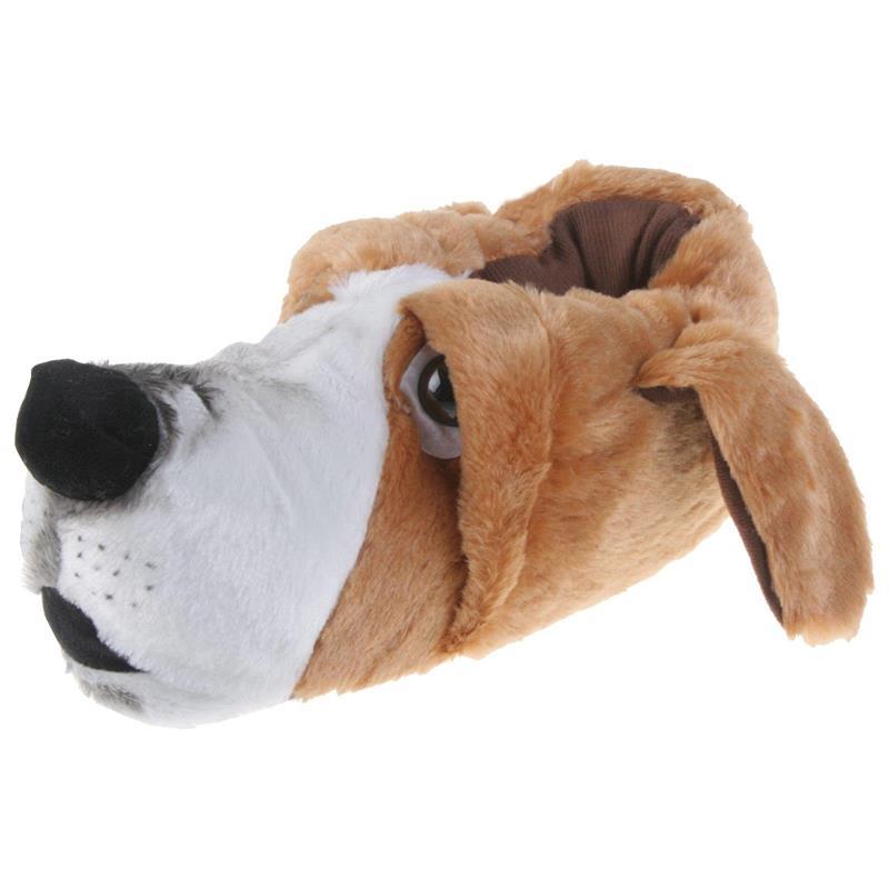 Tierhausschuhe Herren Hausschuhe Basset Hound Hund, Braun