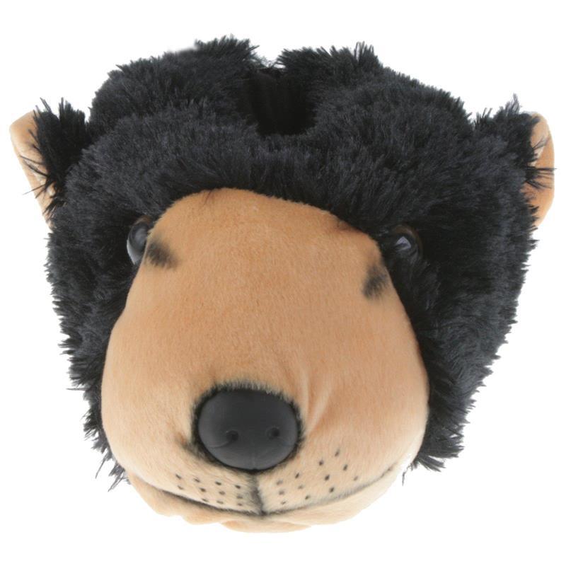 Tierhausschuhe Unisex Hausschuhe Grizzlybär, Schwarz