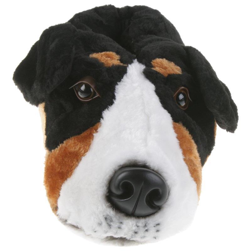 Tierhausschuhe Unisex Hausschuhe Berner Sennenhund, Schwarz