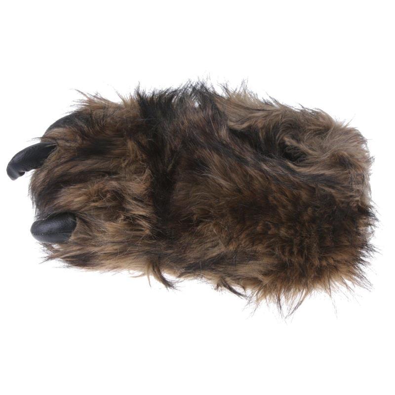 Tierhausschuhe Herren Hausschuhe Monsterkralle Big Foot, Braun