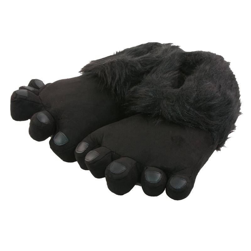 Tierhausschuhe Herren Hausschuhe Big Foot, Schwarz