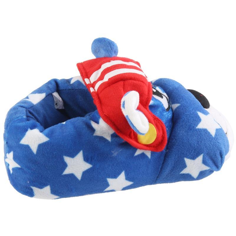 Tierhausschuhe Hausschuhe Bulldogge Football, Blau
