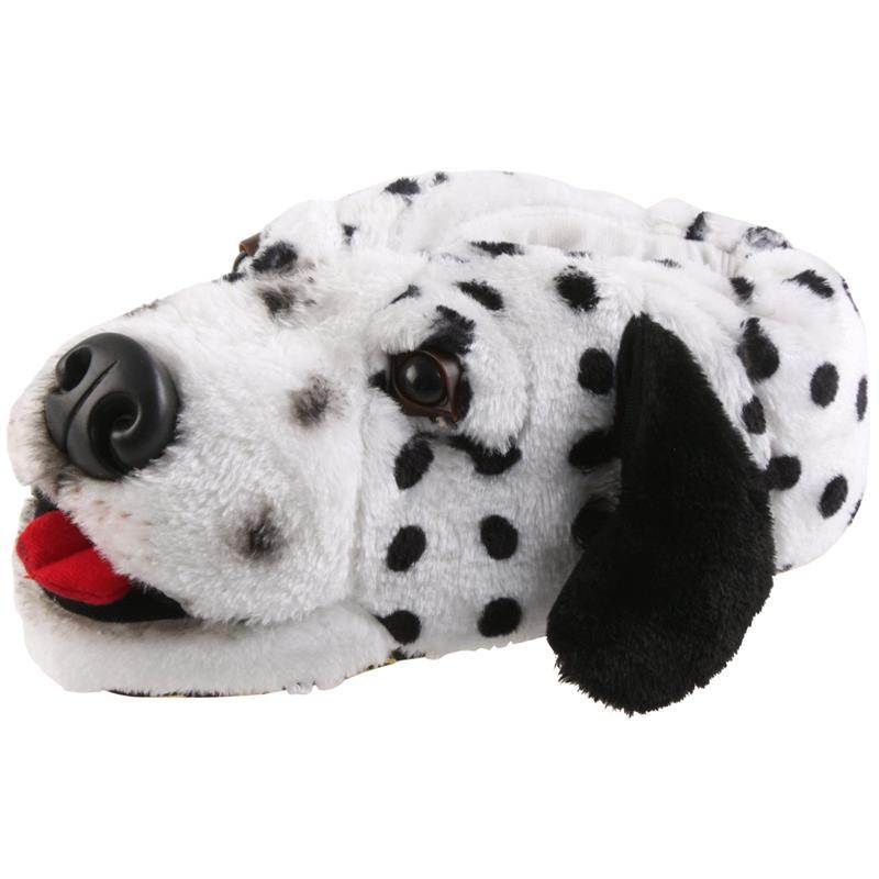 Tierhausschuhe Kinder Hausschuhe Dalmatiner Luke, Weiß