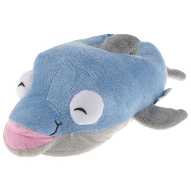 Tierhausschuhe Kinder Hausschuhe Delfin, Blau