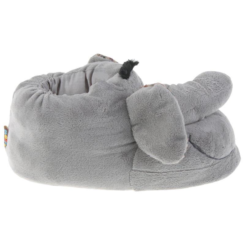 Tierhausschuhe Kinder Hausschuhe Elefant, Grau
