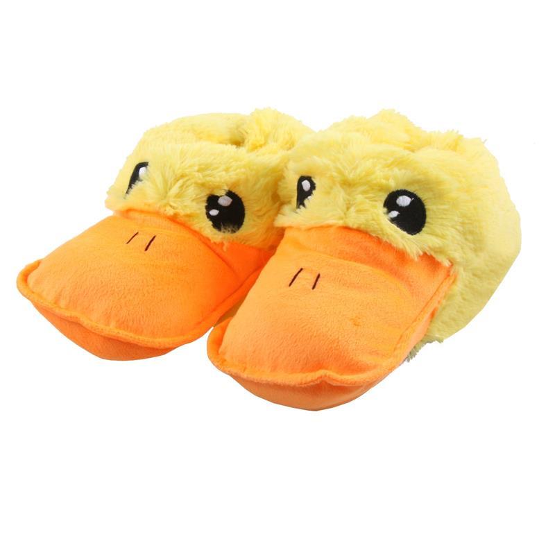 Tierhausschuhe Kinder Hausschuhe Ente, Gelb