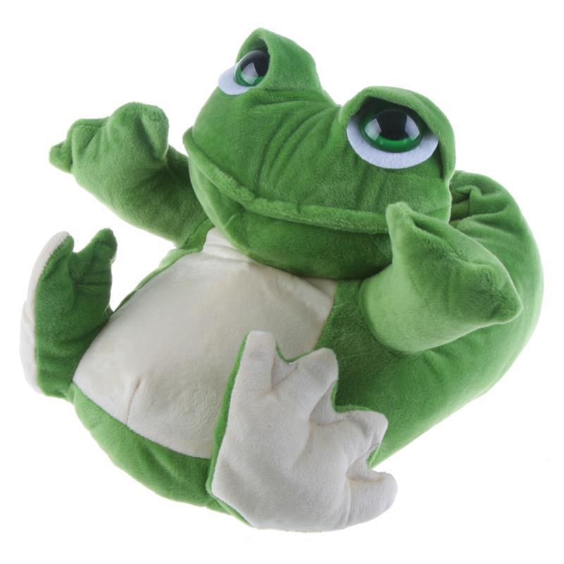 Tierhausschuhe Kinder Hausschuhe Frosch, Grün