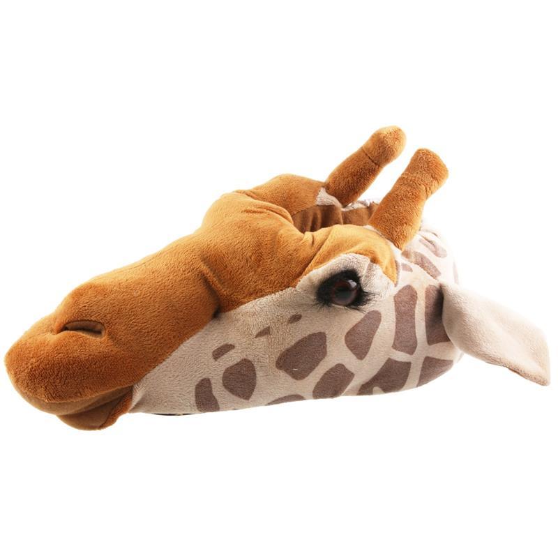 Tierhausschuhe Unisex Hausschuhe Giraffe, Braun