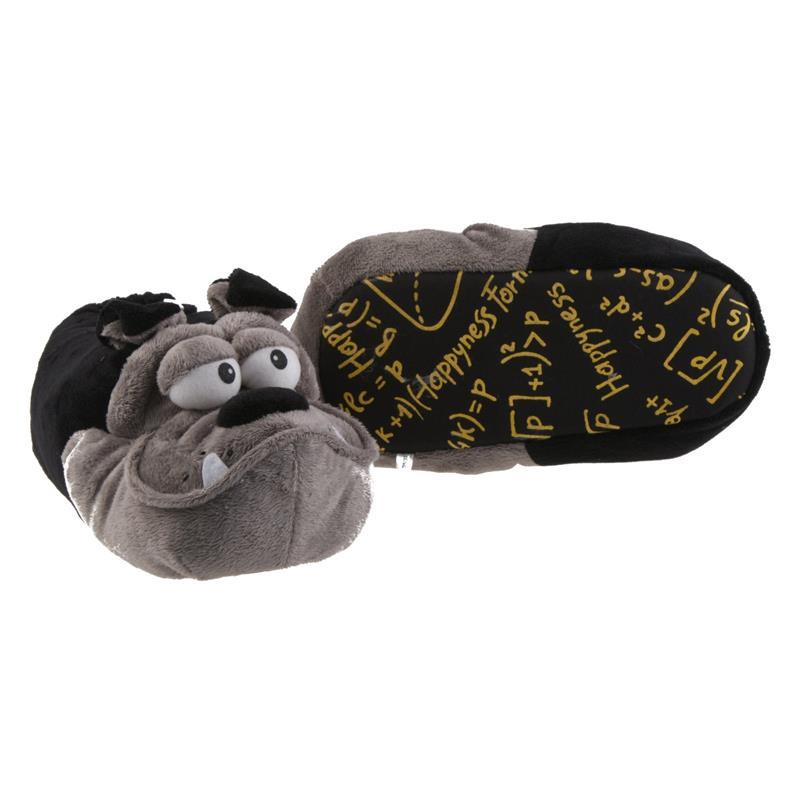 SAMs Unisex Tierhausschuhe Bulldogge, Schwarz Grau