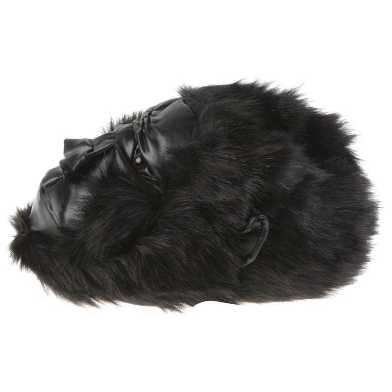 Tierhausschuhe Hausschuhe Gorilla, Schwarz