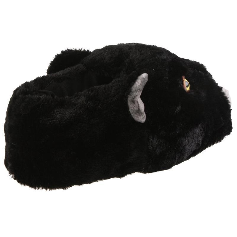 SAMs Tierhausschuhe Panther, Schwarz