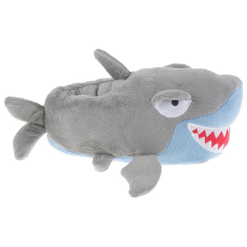 Tierhausschuhe Kinder Hausschuhe Hai, Grau