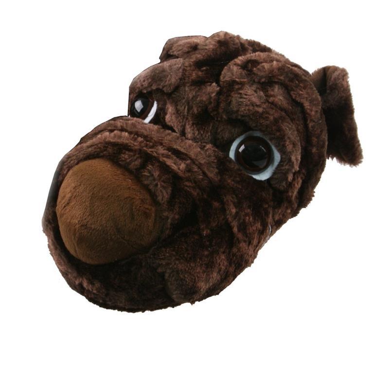 Tierhausschuhe Unisex Hausschuhe Hund, Braun