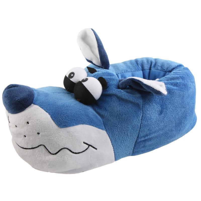 Tierhausschuhe Hausschuhe Bulldogge Kullerauge, Blau
