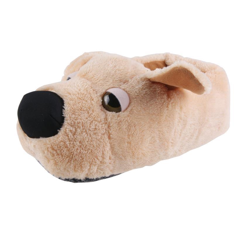 Tierhausschuhe Kinder Hausschuhe Golden Retriever Hund, Beige