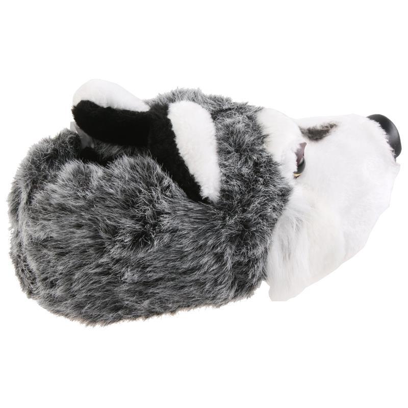 Tierhausschuhe Unisex Hausschuhe Schlittenhund Husky, Grau