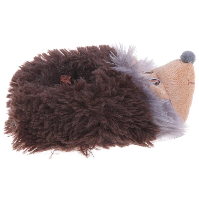 Tierhausschuhe Kinder Hausschuhe Igel, Braun