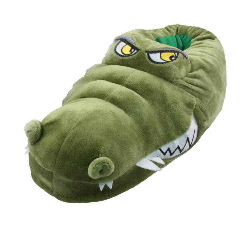 Tierhausschuhe Herren Hausschuhe Krokodil, Grün