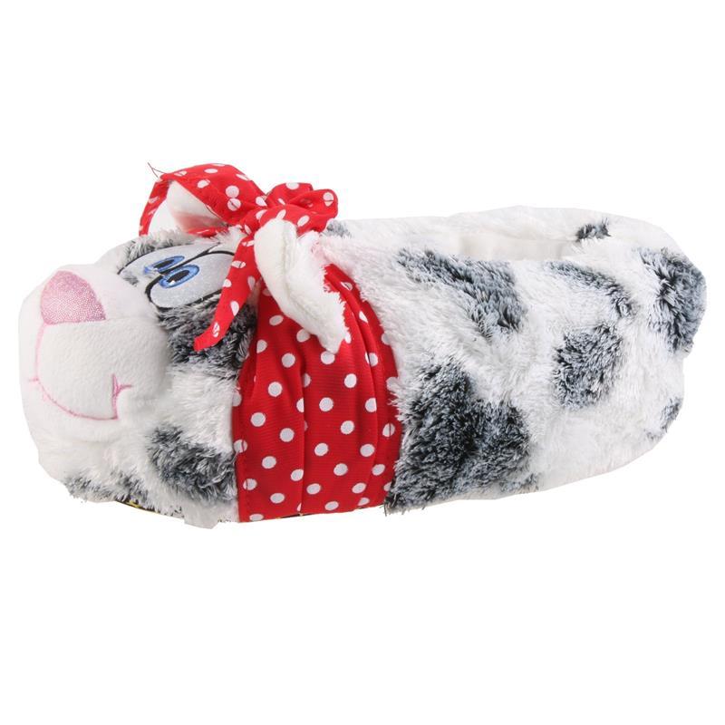 SAMs Damen Tierhausschuhe Katze mit Schleife, Grau