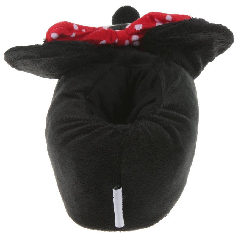 Tierhausschuhe Damen Hausschuhe Disney Minnie Maus, Schwarz