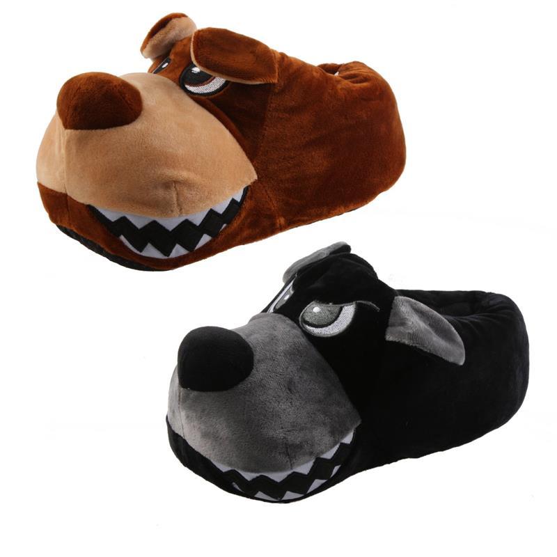 Tierhausschuhe Herren Hausschuhe Grummel Hund