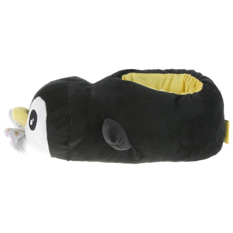 Tierhausschuhe Kinder Hausschuhe Königspinguin, Schwarz