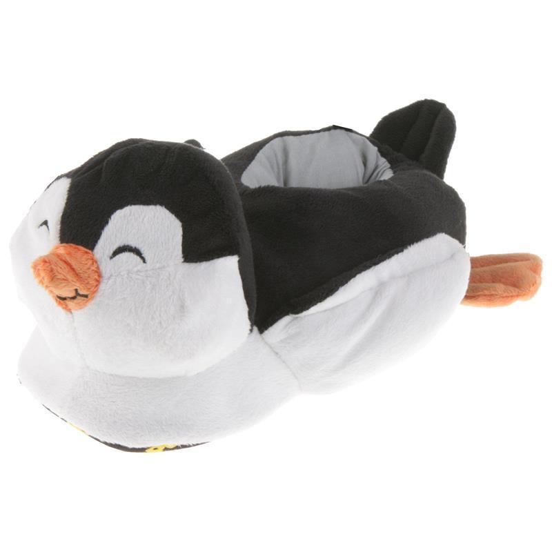 Tierhausschuhe Kinder Hausschuhe Pinguin, Schwarz