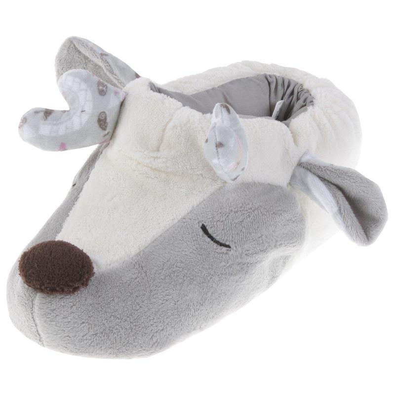 Tierhausschuhe Kinder Hausschuhe Rentier, Weiß